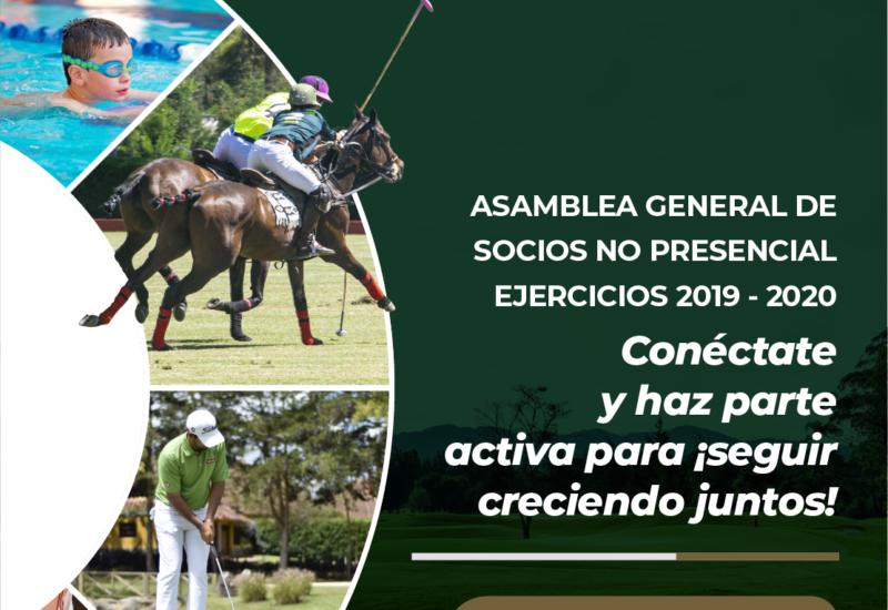 Asamblea General de Socios ejercicios 2019 y 2020